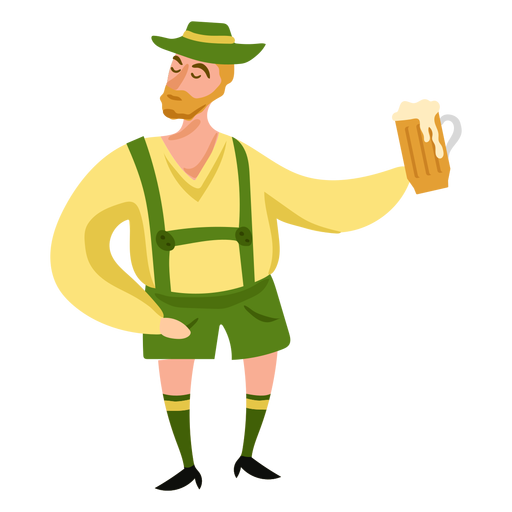 Oktoberfest man character beer Transparent PNG