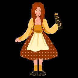 Oktoberfest woman character