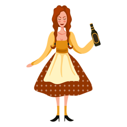 Personaje de mujer Oktoberfest