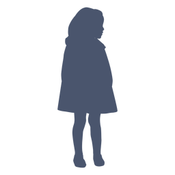 Oldstyle girl silhouette child