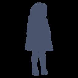 Oldstyle niña silueta niño