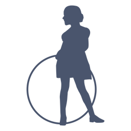 Oldstyle silhouette girl child