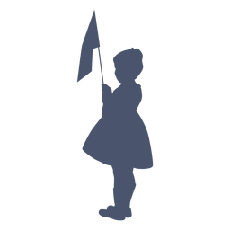 Oldstyle silhouette child
