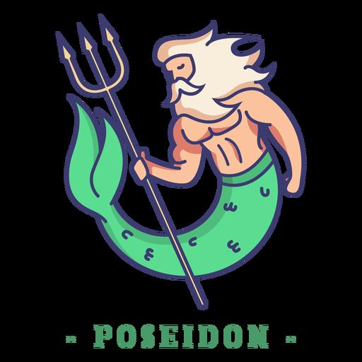 Poseidon greek god character Transparent PNG