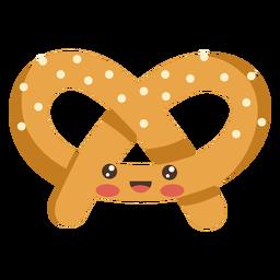 Comida de pretzel kawaii