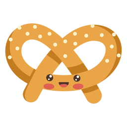 Pretzel kawaii food