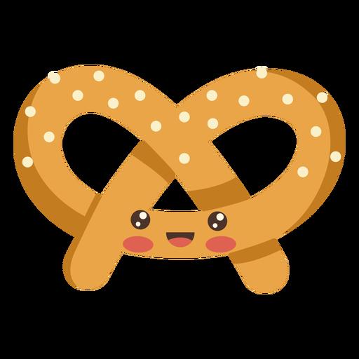 Comida kawaii pretzel Transparent PNG