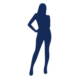 Silhouette blue girl