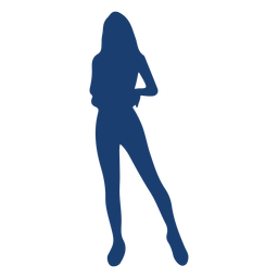 Silhouette blue woman