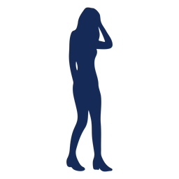 People silhouette girl blue