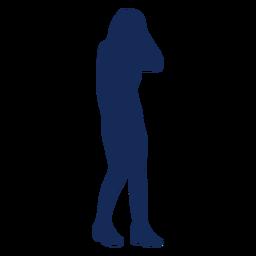 Pessoas silhueta menina azul