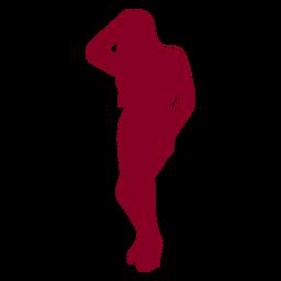 Silhouette Menschen Mädchen rot