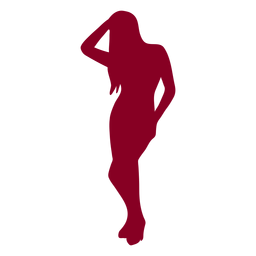 Silhouette people girl red