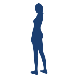 Silhouette girl blue woman