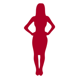 Garota de silhueta de pessoas