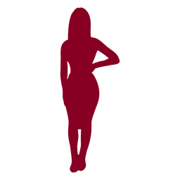 Silhouette girls red woman