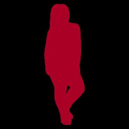 Mädchen Silhouette rot