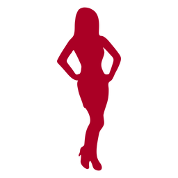 Silhouette girl red woman