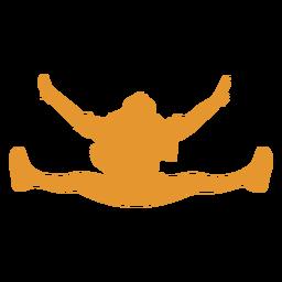 Silueta naranja niña saltar