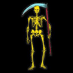 Ilustración de la muerte del esqueleto