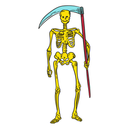Skeleton death illustration