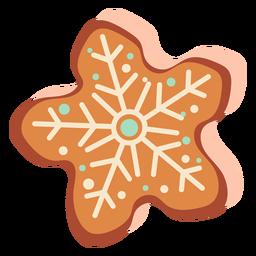 Galleta de jengibre con copo de nieve