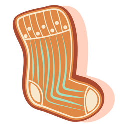 Stocking gingerbread cookie