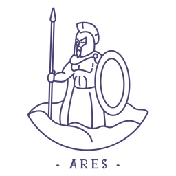 Stroke greek god ares