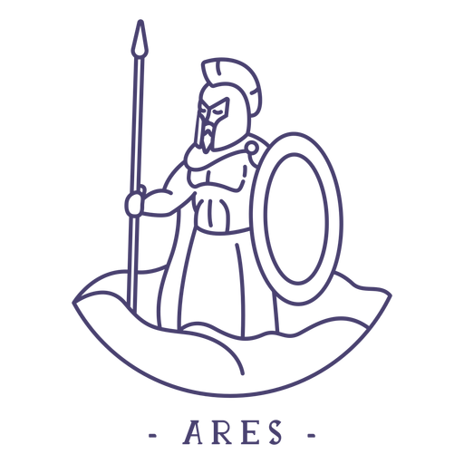 Golpe dios griego ares Transparent PNG
