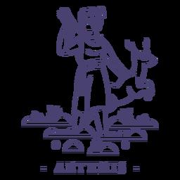Golpe dios griego artemisa