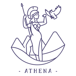 Golpe dios griego atenea