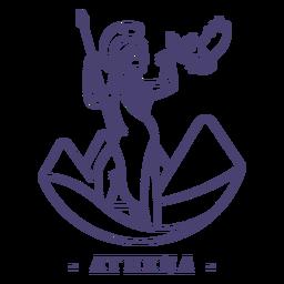 Stroke greek god athena