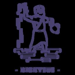 Trazo dios griego dioniso
