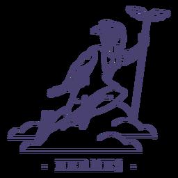 Stroke greek god hermes