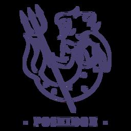 Trazo dios griego poseidón