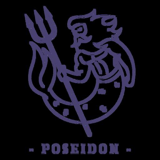 Trazo dios griego poseidón Transparent PNG