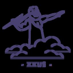Stroke greek god zeus