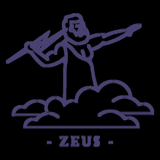 Golpe dios griego zeus Transparent PNG