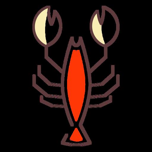 Icono de trazo cangrejo Transparent PNG