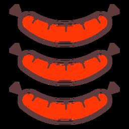 Icono de trazo salchichas