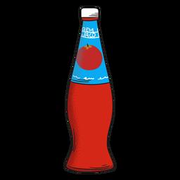 Botella de jugo de tomate