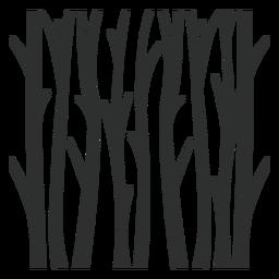 Bäume Wald schwarz
