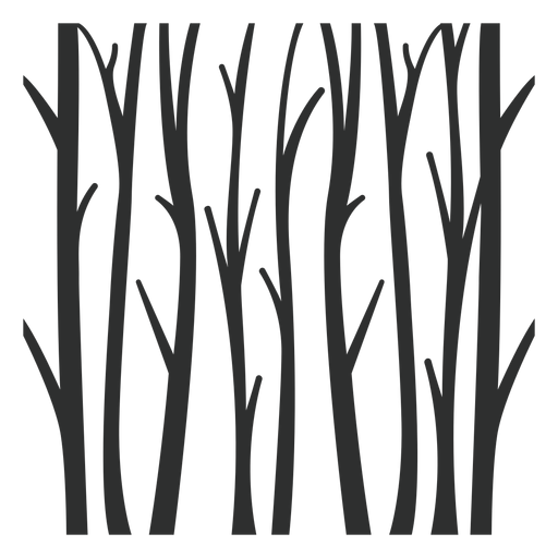 Trees forest black