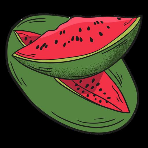 Fruta detallada de sandía Transparent PNG
