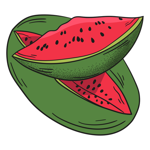 Watermelon detailed fruit Transparent PNG