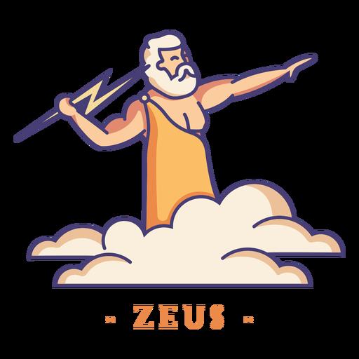 Zeus dios griego personaje Transparent PNG