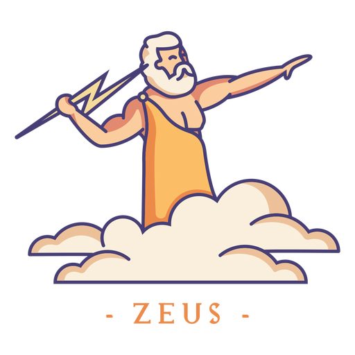 Zeus greek god character Transparent PNG