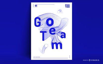 Diseño de cartel de cita deportiva de los Juegos Olímpicos