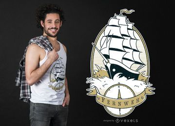 Diseño de camiseta Sail Ship Quote