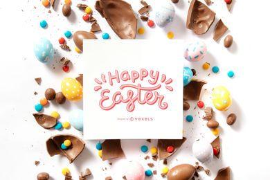 Composição de citação de feliz Páscoa